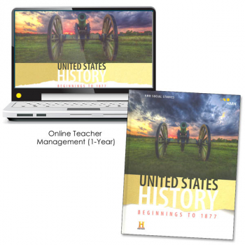 United States History: Beginnings to 1877 Homeschool Package