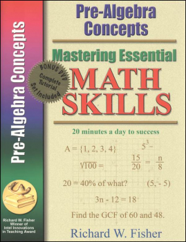 Mastering Essential Math Skills Pre-Algebra Concepts Book with DVD