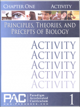 Principles, Theories & Precepts of Biology Chapter 1 Activities