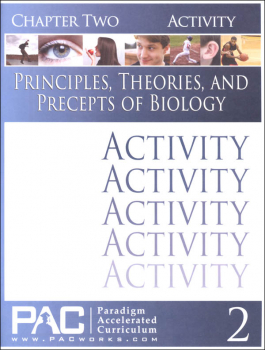 Principles, Theories & Precepts of Biology Chapter 2 Activities