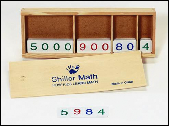 Complete Number Card Set with Wooden Tray