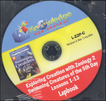 Apologia Exploring Creation With Zoology 2 Complete Lapbook Package CD-ROM