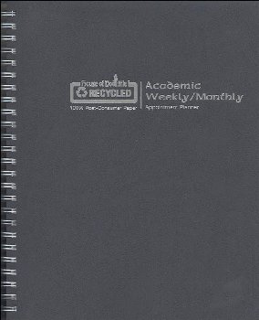Monthly/Weekly Black Academic Planner (August 2021-July 2022)