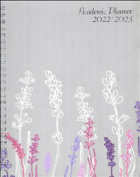 Monthly/Weekly Wildflowers Academic Planner (August 2021-July 2022)
