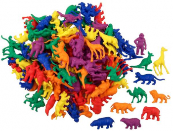 Wild Animals Counters - 10 shapes, 6 colors, 120 pcs.