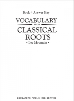 Vocabulary From Classical Roots 4 Answer Key