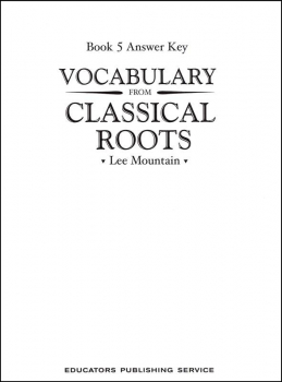 Vocabulary From Classical Roots 5 Answer Key