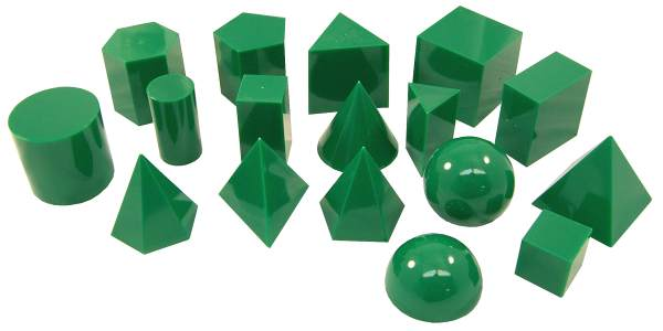 Geometric Solids, Plastic, 5 cm, 17 pc