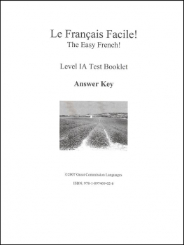 Easy French Level 1A Answer Key