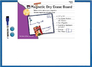 "Magnetic Dry Erase Board 17""x23"" - Blue"