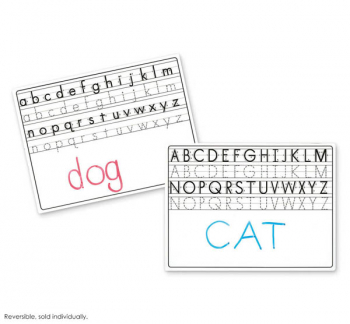 Magnetic Whiteboard Two-Sided, Uppercase/Lowercase Alphabet
