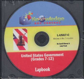 United States Government Lapbook CD-ROM (Grades 7-12)