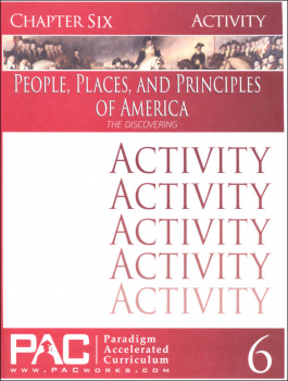 People, Places, and Principles of America Chapter 6 Activities
