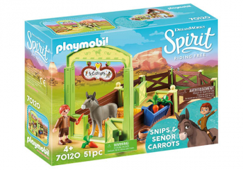 Snips & Senor Carrots with Horse Stall (Spirit - Riding Free)