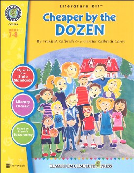 Cheaper by the Dozen Literature Kit (Novel Study Guides)