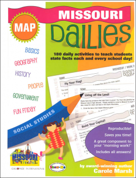 Missouri Dailies: 180 Daily Activities for Kids