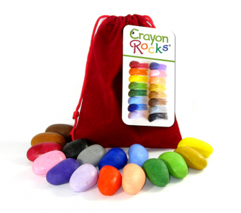 Crayon Rocks - 16 Colors in Red Velvet Bag
