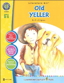 Old Yeller Literature Kit (Novel Study Guides)