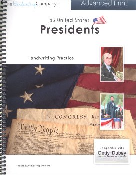 45 United States Presidents Character Writing Worksheets Getty Dubay Italic Advanced Print