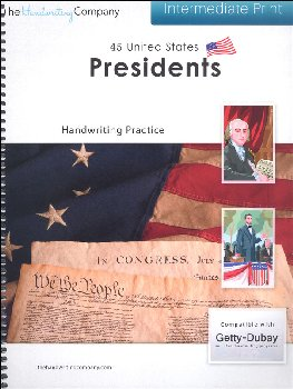 45 United States Presidents Character Writing Worksheets Getty Dubay Italic Intermediate Print