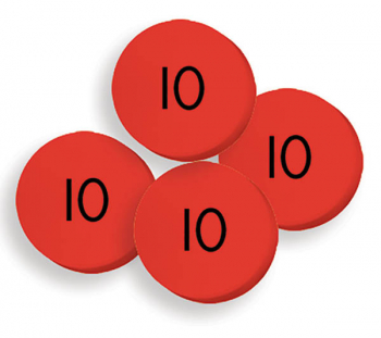 Place Value Disks 100 tens disks