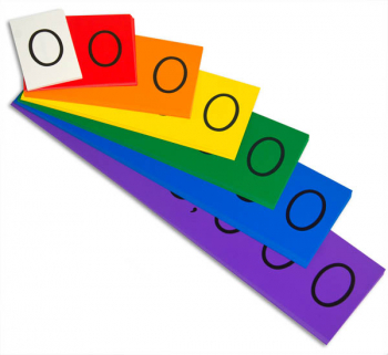 "Place Value Strips - Units - Millions Strips (4"" tall)"
