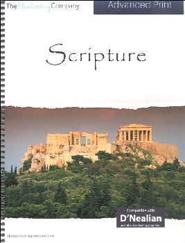 Scripture Character Writing Worksheets D'Nealian Advanced Print