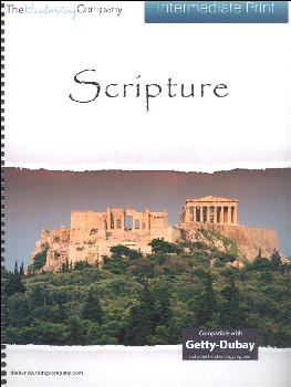 Scripture Character Writing Worksheets Getty Dubay Italic Intermediate Print
