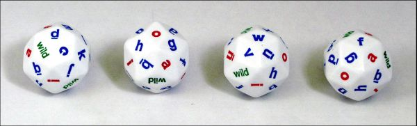 Alphabet Dice - Set of 4, 30 Sided