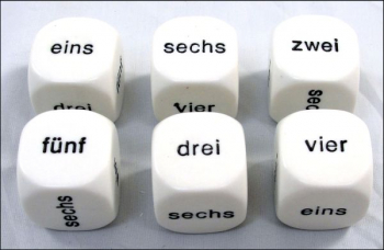 German Dice Numbers 1 to 6
