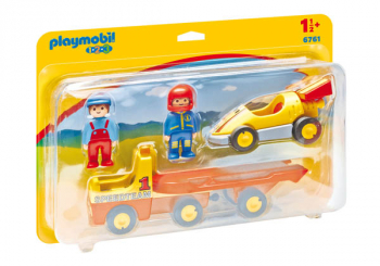 Tow Truck with Race Car (Playmobil 1-2-3)