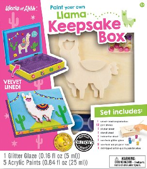 Paint Your Own Llama Keepsake Box