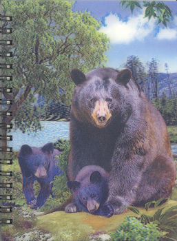 3D Lenticular Notebook: Black Bear