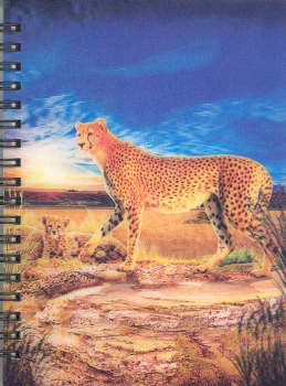 3D Lenticular Notebook: Cheetah