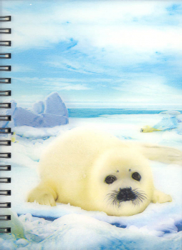 3D Lenticular Notebook: Harp Seal