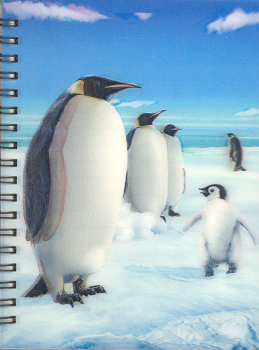 3D Lenticular Notebook: Penguin