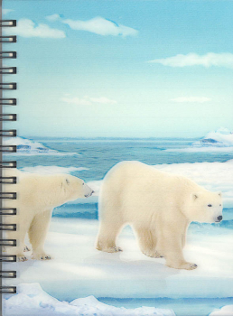 3D Lenticular Notebook: Polar Bear
