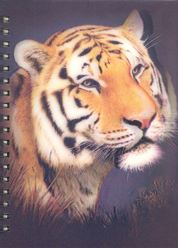 3D Lenticular Notebook: Tiger
