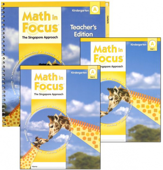 Math in Focus Grade K Homeschool Package - 1st Semester
