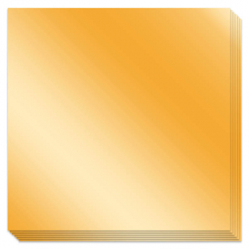 "Origami Paper - Gold Foil with instructions 36 sheets 5 7/8"" squares"