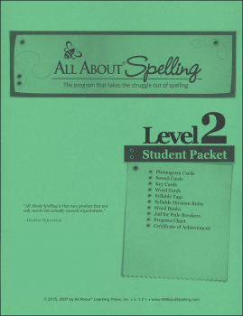 All About Spelling Level 2 Student Material Packet