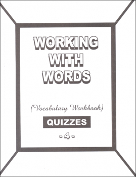 Working with Words 4 Quizzes