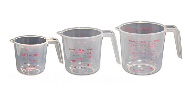 Liquid Measuring Pitchers - Set of 3 Dual Scale