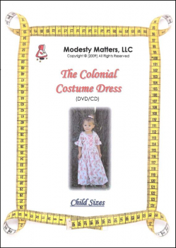 Colonial Costume Dress  - DVD/CD (Child Sizes)