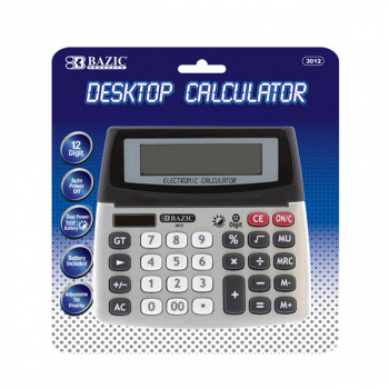 Desktop Calculator 12-Digit Dual Power with Adjustable Display