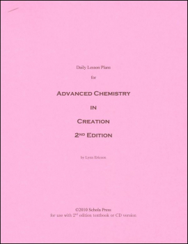 Daily Lesson Plans Advanced Chemistry in Creation 2nd Edition