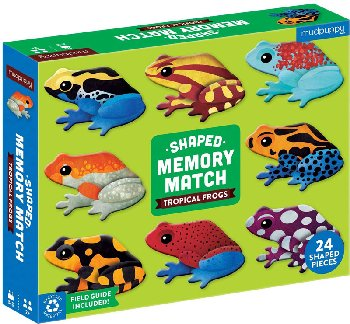 Tropical Frogs Shaped Memory Match Game