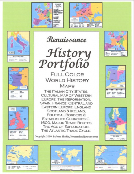 Renaissance History Portfolio Full Color Maps
