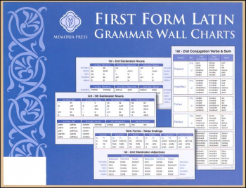 First Form Latin Grammar Wall Charts