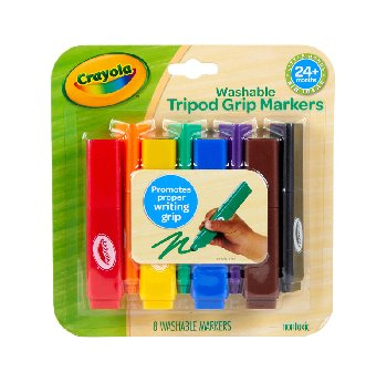 My First Crayola Washable Tripod Grip Markers - 8 count